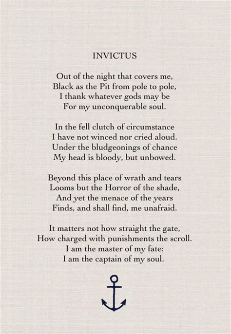 invictus by william ernest henley jodie white white