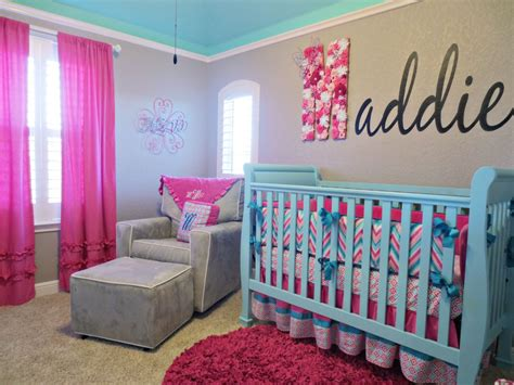 Chevron Room by Maddie S Pink Aqua And Gray Chevron Nursery Project Nursery