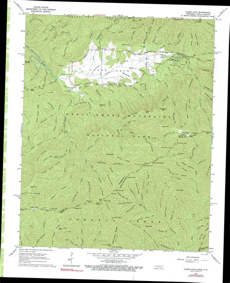 cades cove map cades cove topographic map tn nc usgs topo 35083e7