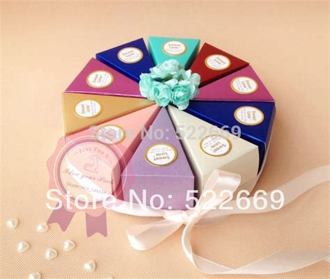 newest free shipping wedding decorate triangle box