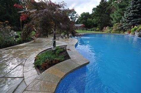 pool coping swimming pools stone coping  amagansett