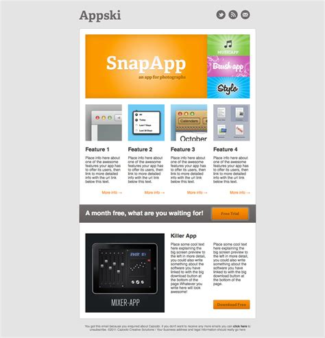 apps email templates appski app promotional email template by cazoobi