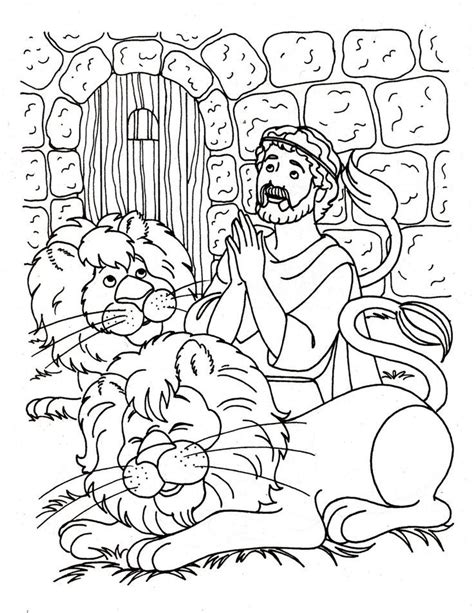 Daniel And The Lions Den Coloring Page free coloring pages of daniel and the lions den