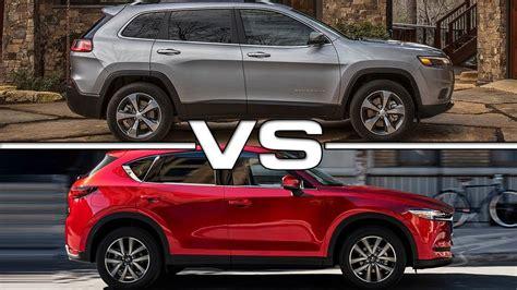 mazda jeep cx5 2019 jeep vs 2018 mazda cx 5
