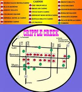 map to cripple creek s casinos in majestic colorado