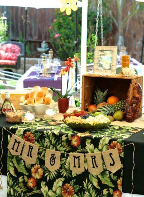 hawaiian luau bridal wedding shower party ideas 2132063