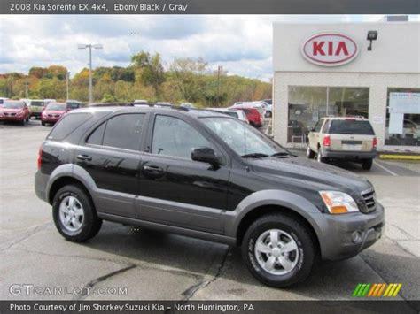 2008 Kia Sorento Ex Black 2008 Kia Sorento Ex 4x4 Gray Interior