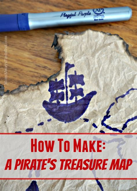 How To Make Treasure Map Paper - pirate ideas how to make a treasure map