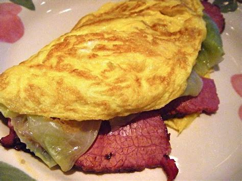 Mondays Leftovers Ground Beef Omelet by They Don T Eat Corned Beef And Cabbage In Ireland Knkx