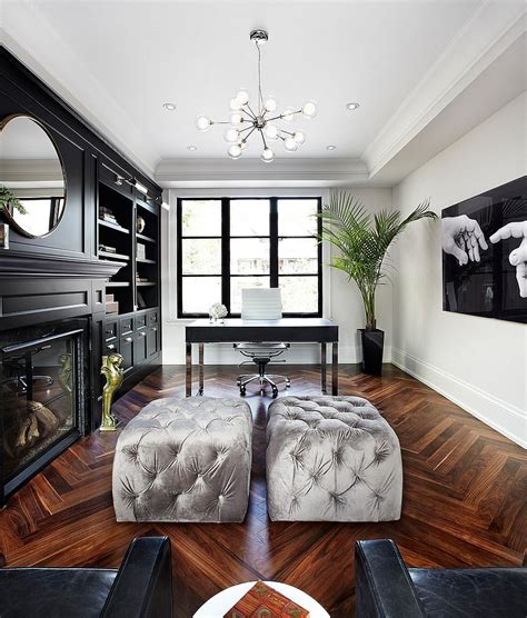 at home design 30 black and white home offices that leave you spellbound