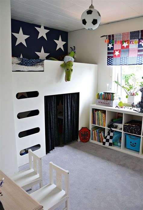 bunk bed with play area underneath play areas room loft beds kidspace interiors