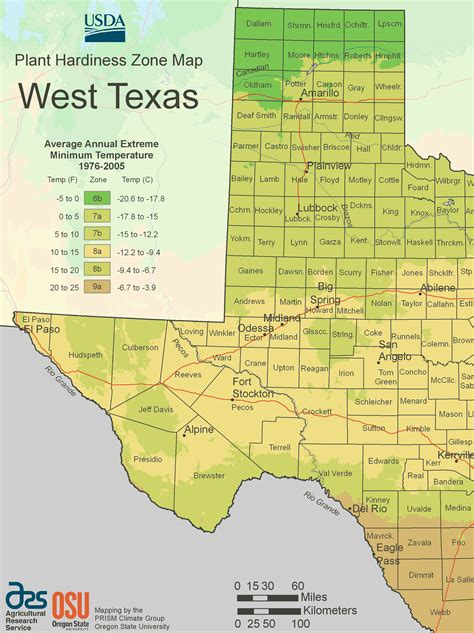 west texas map with cities west texas plant hardiness zone map mapsof net