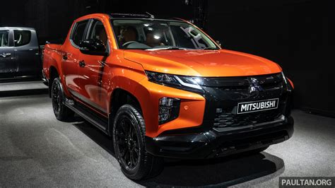 2019 mitsubishi triton 2019 mitsubishi triton facelift debuts in thailand