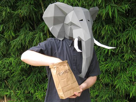 How To Make A 3d Mask Out Of Paper - fantastic papercraft mask patterns