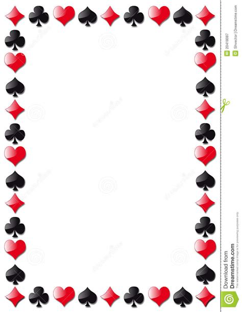 Gift Card Borders - playing cards border clipart clipart suggest