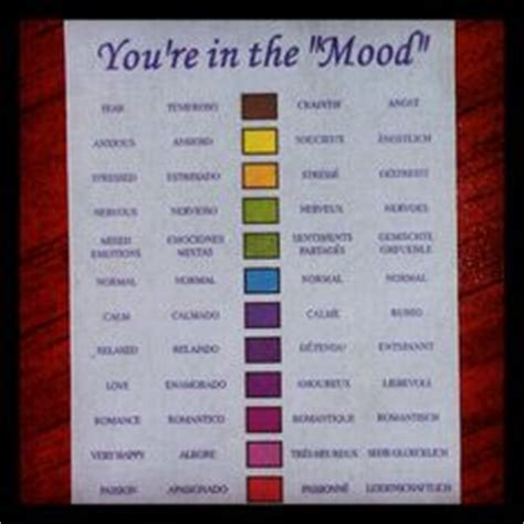 colors and mood chart mood ring color chart explore color symbolism related to