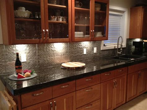 kitchen metal backsplash ideas metal backsplash for kitchen ideas kitchentoday