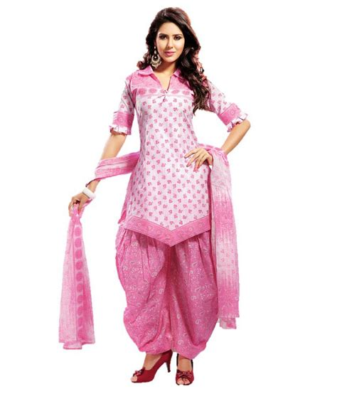 design dress material manufacturers design willa pink cotton unstitched dress material buy