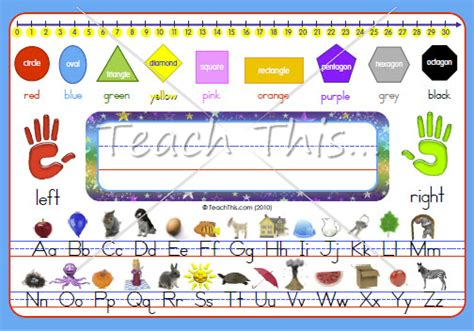 printable desk tags with number line desk mat 1 2 printable alphabet grammar writing and