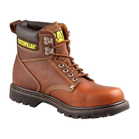 sears caterpillar boots cat footwear s second shift 6 quot brown soft toe work