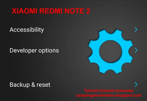 tutorial xiaomi redmi note tutorial cara mengaktifkan developer option usb debugging