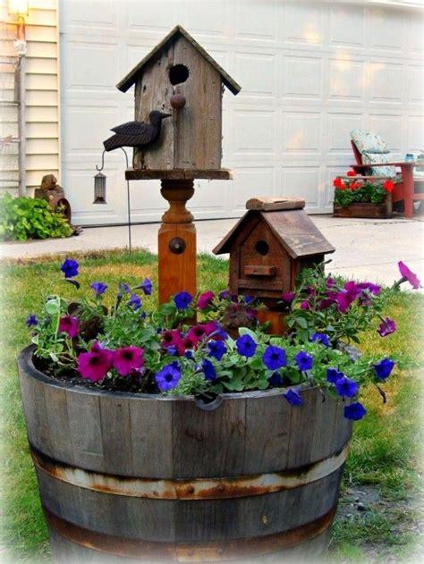 wine barrel garden ideas best 25 wine barrel planter ideas on solar