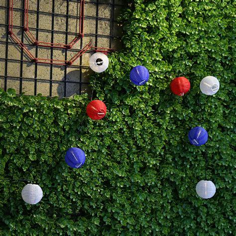 Solar Garden Ornaments Outdoor Decor Solar Powered 20led Lantern String Lights L For