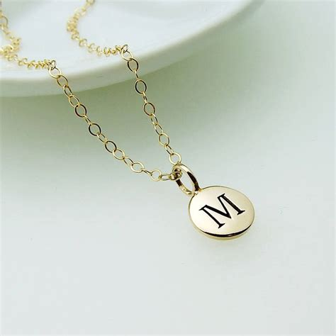 Letter Necklace Not On The High Gold Initial Necklace By Wished For Notonthehighstreet