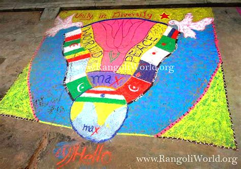 rangoli themes on social issues unity in diversity rangoli
