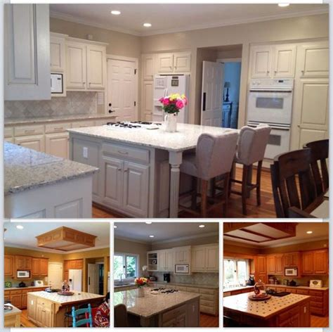 painted oak kitchen cabinets before and after beautiful white kitchen with painted cabinets before