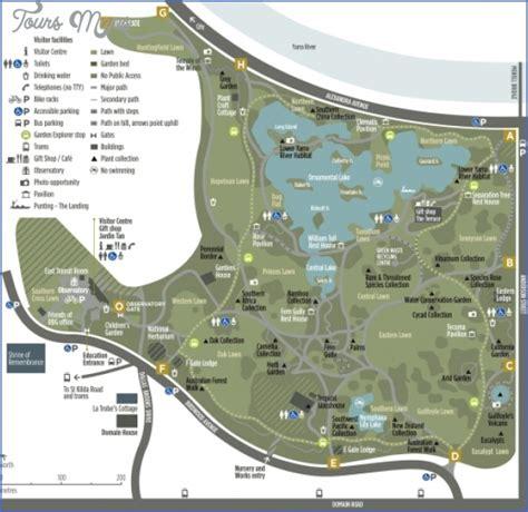 Melbourne Map Toursmaps Com Map Of Botanical Gardens Melbourne
