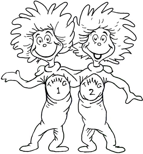 thing 1 and thing 2 coloring page pto pinterest