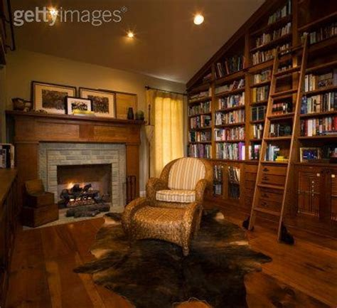 Library Fireplace by Quot Cozy Home Library With Fireplace Quot This Modest Library