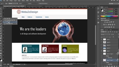 design html page using photoshop photoshop slice tool and export a website layout with html