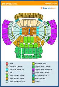 philips arena floor plan philips arena seating chart pictures directions and