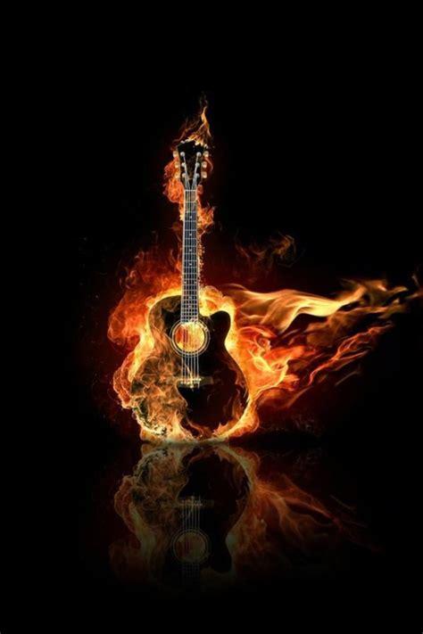 wallpaper iphone 5 guitar burning guitar wallpaper free iphone wallpapers