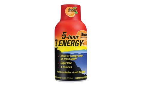 4 hr energy drink living essentials 5 hr energy 318120 2 oz orange 5 hour