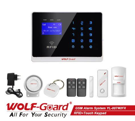 2014 new wolf guard m2fx wireless wired gsm sms home