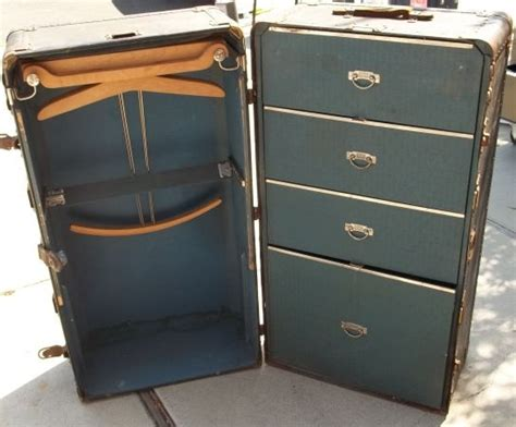 super suitcase with drawers circa 1922 hartmann trunk company gibraltarized antique