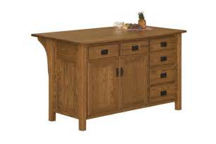 Solid Wood Kitchen Island by Amish Arts And Crafts Kitchen Island With Drawers On Right