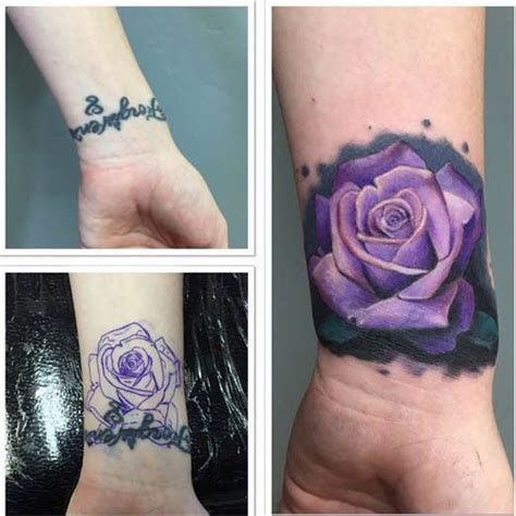rose tattoo cover up ideas cover up wrist and inked magazine on