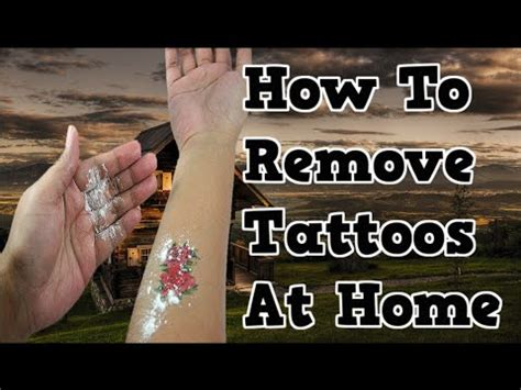 how to remove tattoos at home can you remove a tattoo