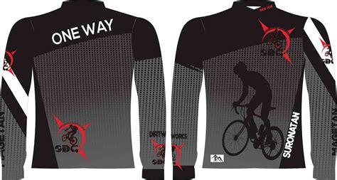 desain jersey sepeda pembuatan baju sepeda one way printing jersey