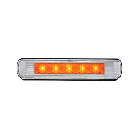 chrome license plate light  amber led auxiliary light