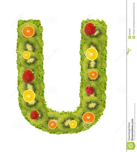 u letter fruit alphabet from fruit u royalty free stock image image