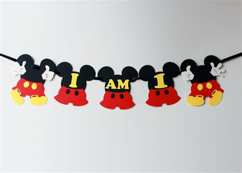 mickey mouse highchair banner mickey highchair birthday banner mickey highchair age banner