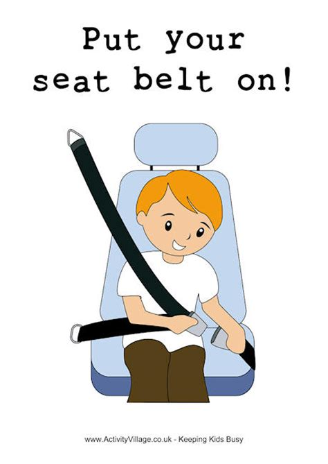 putting your put your seat belt on poster