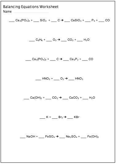 Balancing Chemical Equations Worksheet Middle School by Best 25 Equation Ideas On Engineering