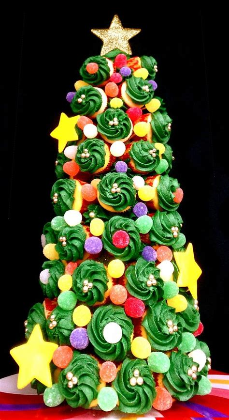 holiday cupcake tree christmas pinterest