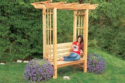 bench with arbor unique diy projects for your garden pallet idea